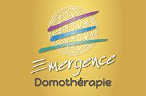 logo Emergence Domothérapie sur fond doré